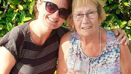 Liza Putwain and Marie Kerry. Liza launched a fundraising page to restore her garden Picture: IAN PU