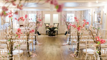 One of Woodhall Manor's smaller wedding rooms Picture: Nick Wild Photography / Woodhall Manor
