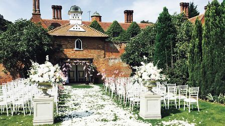 The Dovecote, Woodhall Manor's venue that provides an enchanting, intimate backdrop within its walle