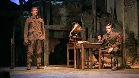 Scene from the original tour of Birdsong. Many of the cast are back for the digital production Phot