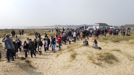 Hundreds of Dachshunds and other breeds visited Southwold every few months for the walk Picture: RAC