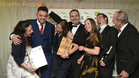 Eat Suffolk Food and Drink Awards 2019. Best Pub winners -The Grundisburgh Dog Picture: SARAH LUCY
