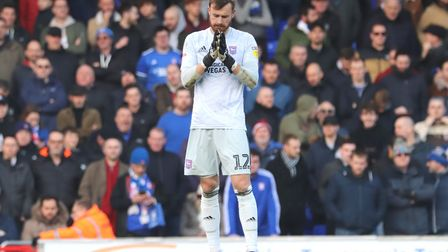 Will Norris pictured during Town's 4-1 defeat against Peterborough United at Portman Road Photo: ROS