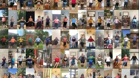 The mammoth choreographed routine Picture: THE SPALLETTES