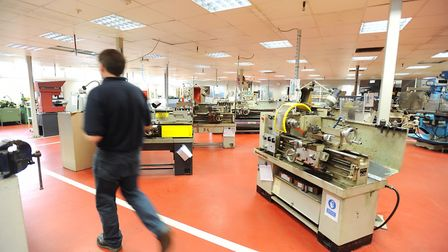 Inside the Delphi factory, which is due to be closed for good later this year Picture: GREGG BROWN