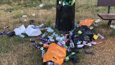 Jason Alexander found the mountain of rubbish next to a bin in Rushmere Picture: JASON ALEXANDER