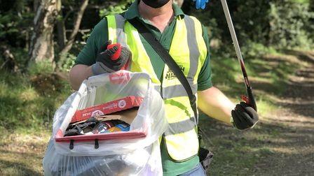 Jason Alexander, from Wildlife Gadget Man's Rubbish Walks, has been 'disgusted' by the amount of PPE