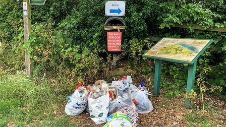 County councillor Michael Ladd has reminded tourists to take their rubbish home Picture: SARAH LUCY
