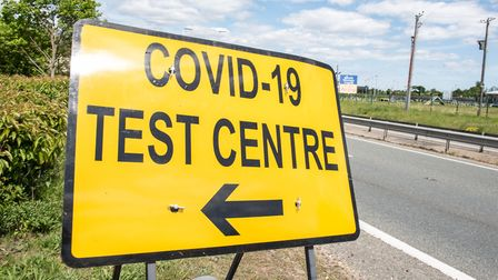 Mobile coronavirus testing centres have been put in place across the county. Picture: SARAH LUCY BRO