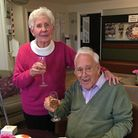 The pair celebrated Reg's last birthday at the Cleves Place care home in 2019 Picture: CONTRIBUTED B