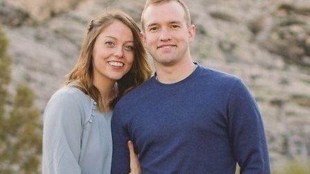 Lieutenant Kenneth 'Kage' Allen, pictured with his wife Hannah Picture: FACEBOOK