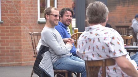 The Greyhound in Ipswich welcomed back drinkers yesterday. Picture: Sonya Duncan