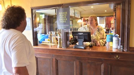 The Woolpack reopened yesterday Picture: Sonya Duncan