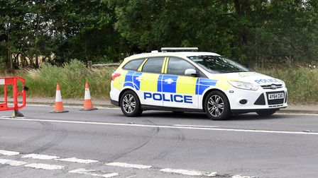 A woman in her 20s has died following a crash on the A140 at Stoke Ash Picture: CHARLOTTE BOND