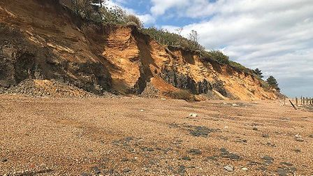 Tonnes of material falls from Bawdsey Cliffs every day due to erosion Picture: SUPPLIED BY HM COASTG