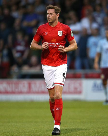Chris Porter was the leading scorer for Crewe Alexandra last season and has signed a new deal Pictur