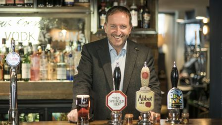 Nick Mackenzie, chief executive of Greene King, would have liked to have seen a cut in beer tax Pic