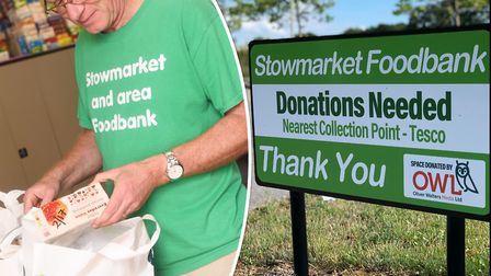 Mike Smith, manager of Stowmarket and Area Foodbank, said there has been an unprecedented demand dur