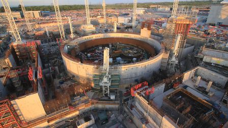Rapid progress is being made on the first unit at Hinkley C, which shows how Sizewell C would look