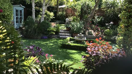 Brian and Teresa May's garden measuring in at roughly 250sq metres Picture: BRIAN MAY