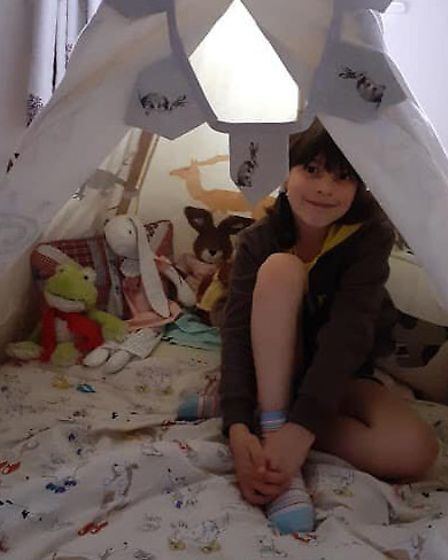 A member of the Melton Brownies made a den for her virtual holiday pack sleepover. Picture: GIRLGUID