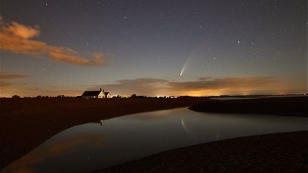Comet Neowise is visible at night in open skies and travels westerly Picture: JASON ALEXANDER