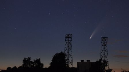 Wildlife Gadget Man Jason Alexander spotted the Comet Neowise over Suffolk at the weekend Picture: