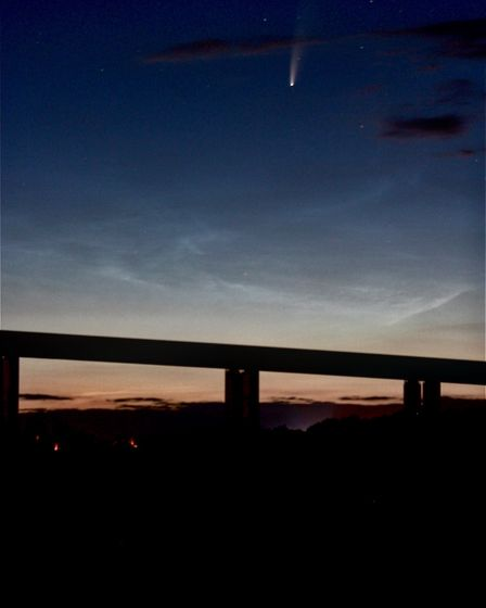 Mr Alexander travelled across the county during the early hours to spot the comet Picture: JASON AL