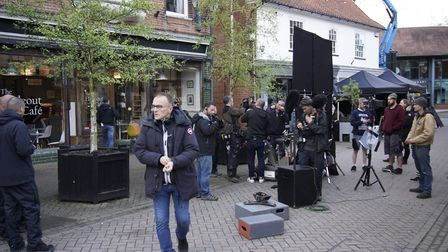 Danny Boyle during filming for Yesterday, which utilised local talent. Picture: SCREEN SUFFOLK