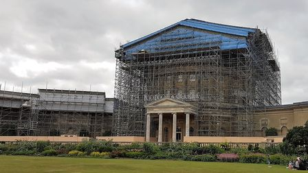 The scaffolding at Ickworth took three months to erect. Picture: PAUL GEATER