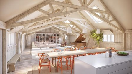 An inside view of one of the Maltings properties Picture: Curry-Hyde LLP, CGI by Daniel Fisher