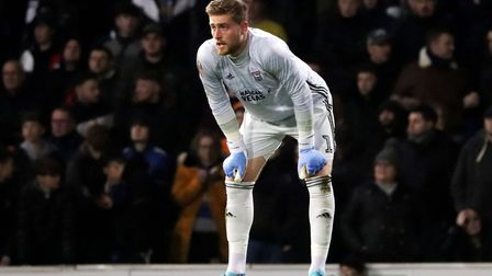 Tomas Holy pictured during Town's 2-1 FA Cup defeat to Coventry City at Portman Road Photo: ROSS HAL