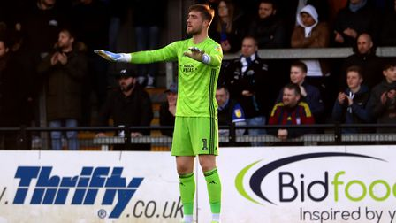 Tomas Holy pictured during Town's 2-1 defeat at Exeter City in the EFL Trophy Photo: ROSS HALLS