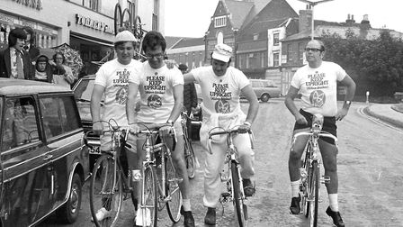 Sudbury Round Table cycle race in July 1975 Picture: ARCHANT