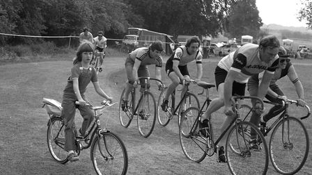 A cycle race at Mildenhall Dairytime Gala in August 1980 Picture: ARCHANT