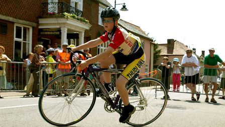 Fast action from the Ixworth Criterium youth races in 2003 Picture: ANDY ABBOTT