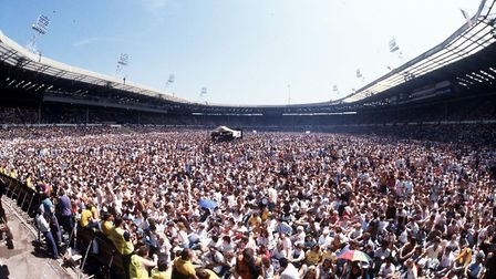 The Live Aid concert at Wembley stadium Picture: PA.