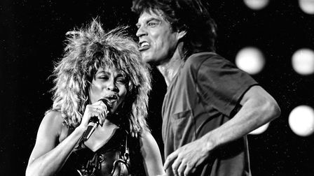 Tina Turner and Mick Jagger performing together at the Live Aid concert in Philadelphia Picture: AP