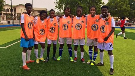 One of the clubs to benefit from the donations of boots and kit is Ridge City FC in Ghana Picture: R
