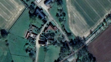 The nine homes are set to be built in New Road, Framlingham Picture: GOOGLE MAPS
