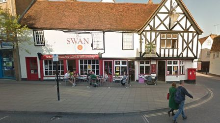 The incident happened in the garden area of The Swan Public House in Bank Street, Braintree. Picture