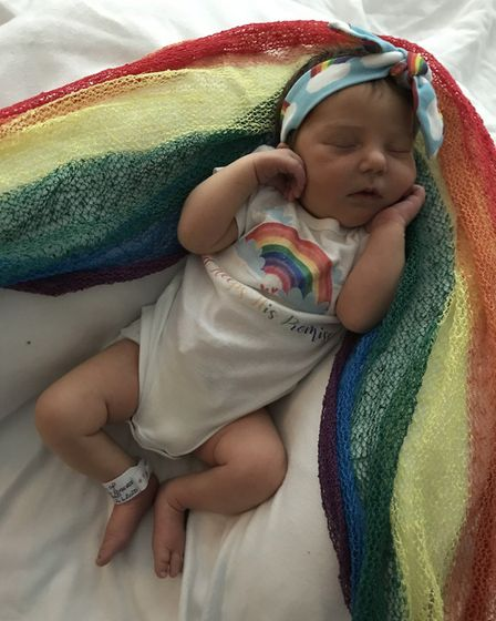 Lucy Anna Rogers was born at West Suffolk Hospital on Friday, June 26. Picture: HANNA ROGERS