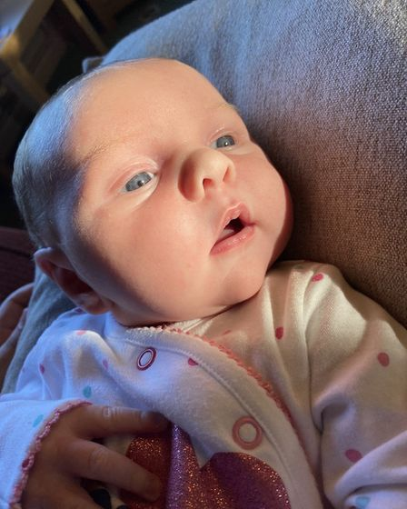 Courtney Howard gave birth to her daughter Aria Kiara Anne Wood at Ipswich Hospital on May 31. Pictu