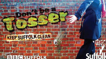 The Don't be a Tosser campaign aims to reduce the amount of littering in Suffolk. Picture: SUFFOLK C