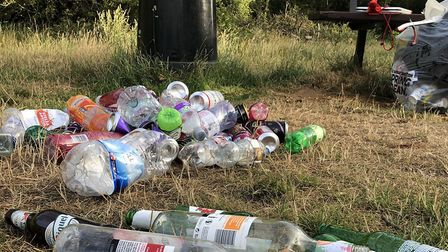 Littering has been on the rise since lockdown restrictions were lifted. This rubbish was left at Rus