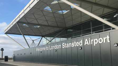 London Stansteds terminal building, where the plan was forced to make an emergency landing due to a