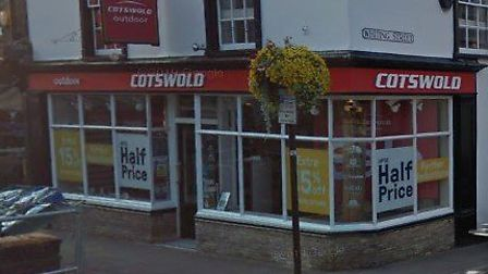 A man has been arrested following a burglary at Cotswold Outdoor in Bury St Edmunds Picture: GOOGLE