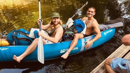 Alex Holding and Lewis Rehal went canoing on Sunday, but when they went ashore their boat was stolen