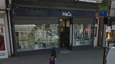 M&Co in Newmarket high street, which is earmarked for closure Picture: GOOGLEMAPS