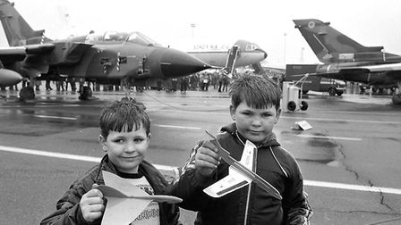 Youngsters at Mildenhall Air Show in May 1983 Picture: ARCHANT